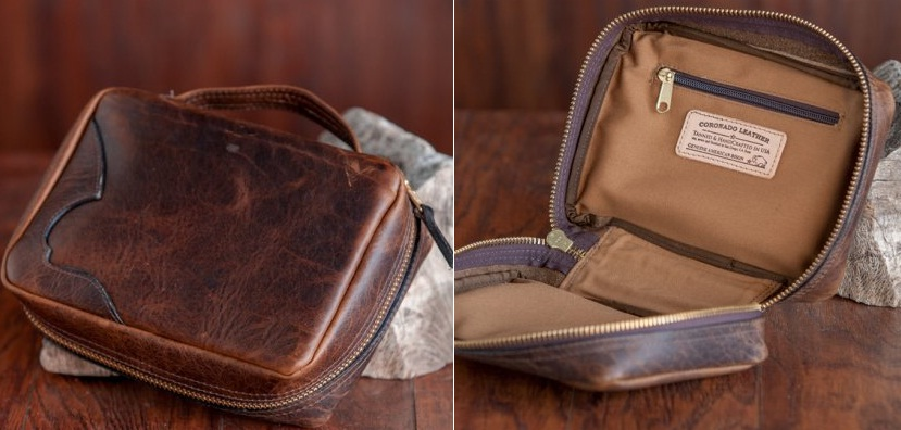 Rugged Leather DOPP kit