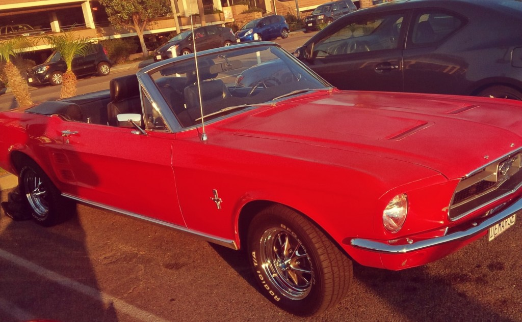 1967 Red Mustang