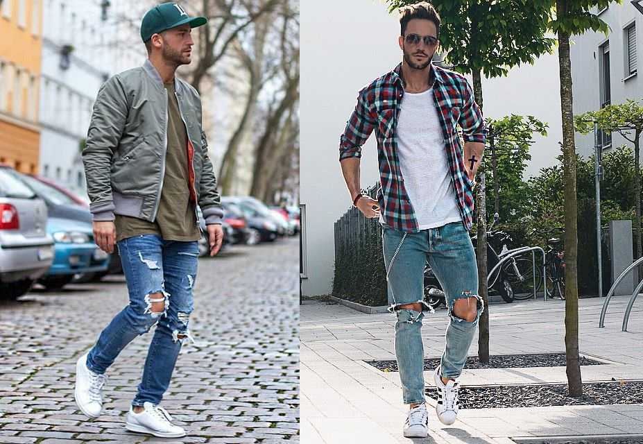 Mens-fashion-ripped-jeans