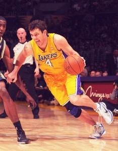Luke Walton_Lakers. Courtesy Andrew D Bernstein_NBAE Getty Images