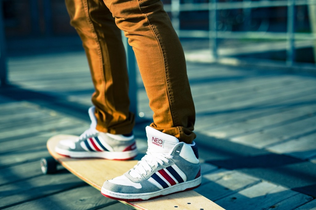 man-skateboard-shoes