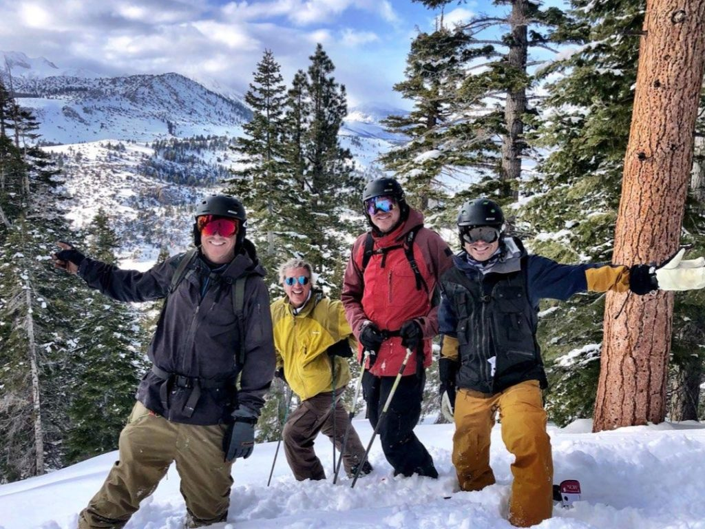backcountry skiing group