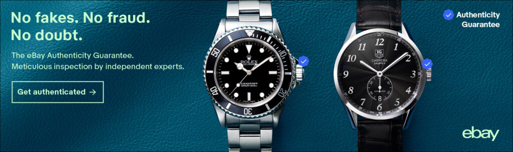 Luxury watches authenticated by Ebay